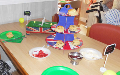 Cream teas, chocolate and Wimbledon at Woodstock Residential Care Home