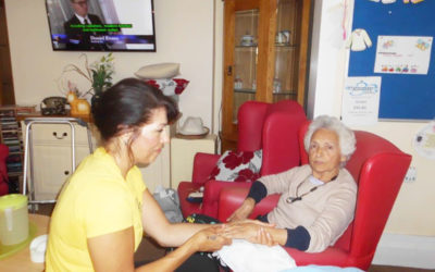 Sonia brings her massage skills to Woodstock Residential Care Home
