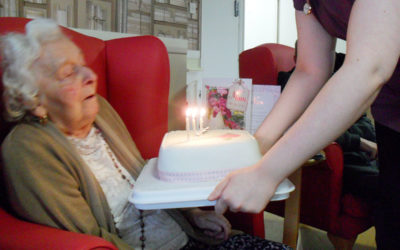 Happy birthday to Lily at Woodstock Residential Care Home