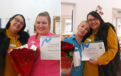 Woodstock Residential Care Home celebrates two Employees of the Month