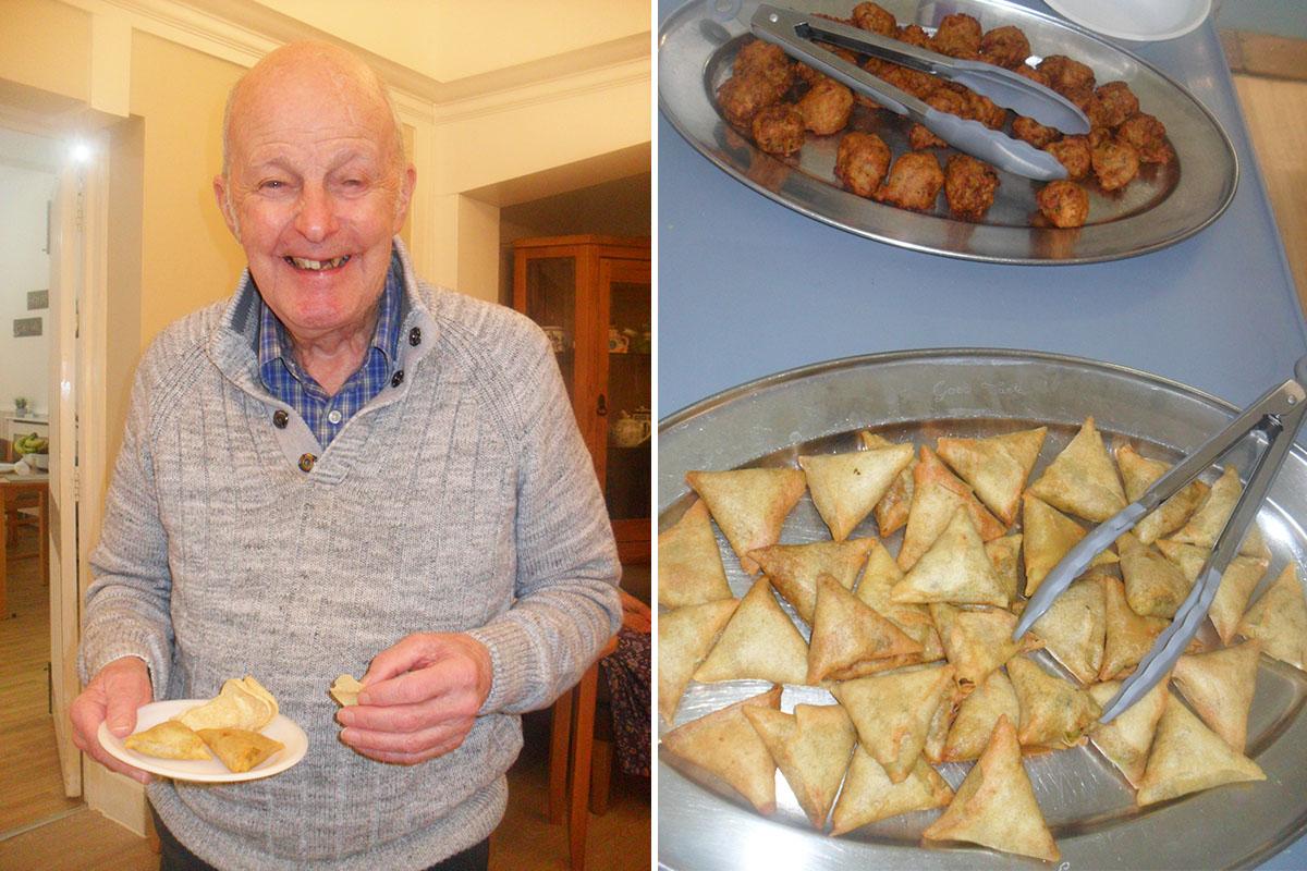 Diwali food tasting at Woodstock Residential Care Home