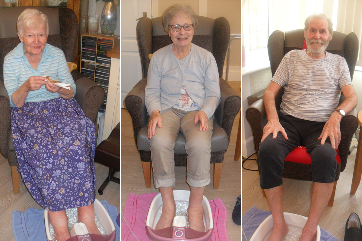 Woodstock Residential Care Home residents enjoy pampered feet