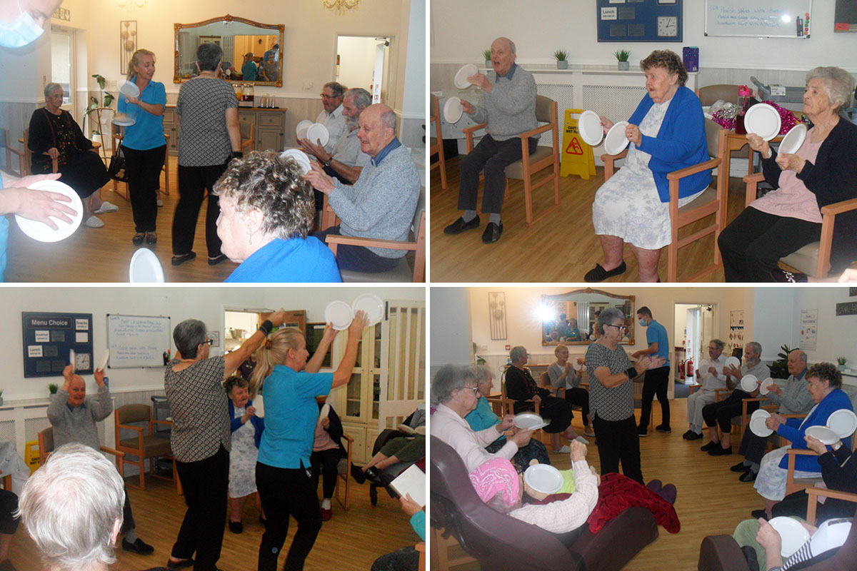 Woodstock Residential Care Home residents enjoy some lively exercises
