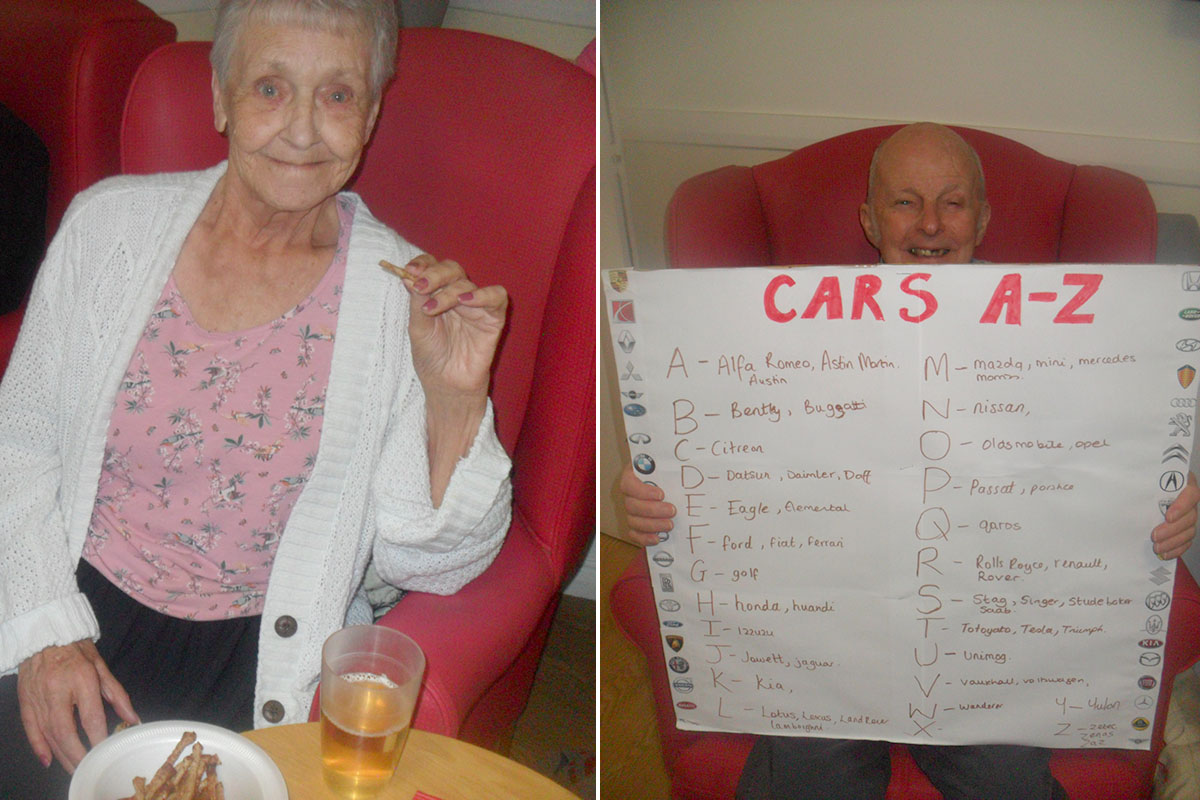Shandies and nibbles at Woodstock Residential Care Home
