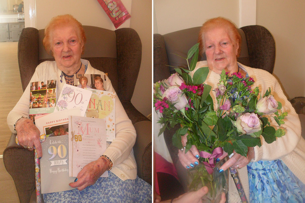 Happy birthday to Vera at Woodstock Residential Care Home