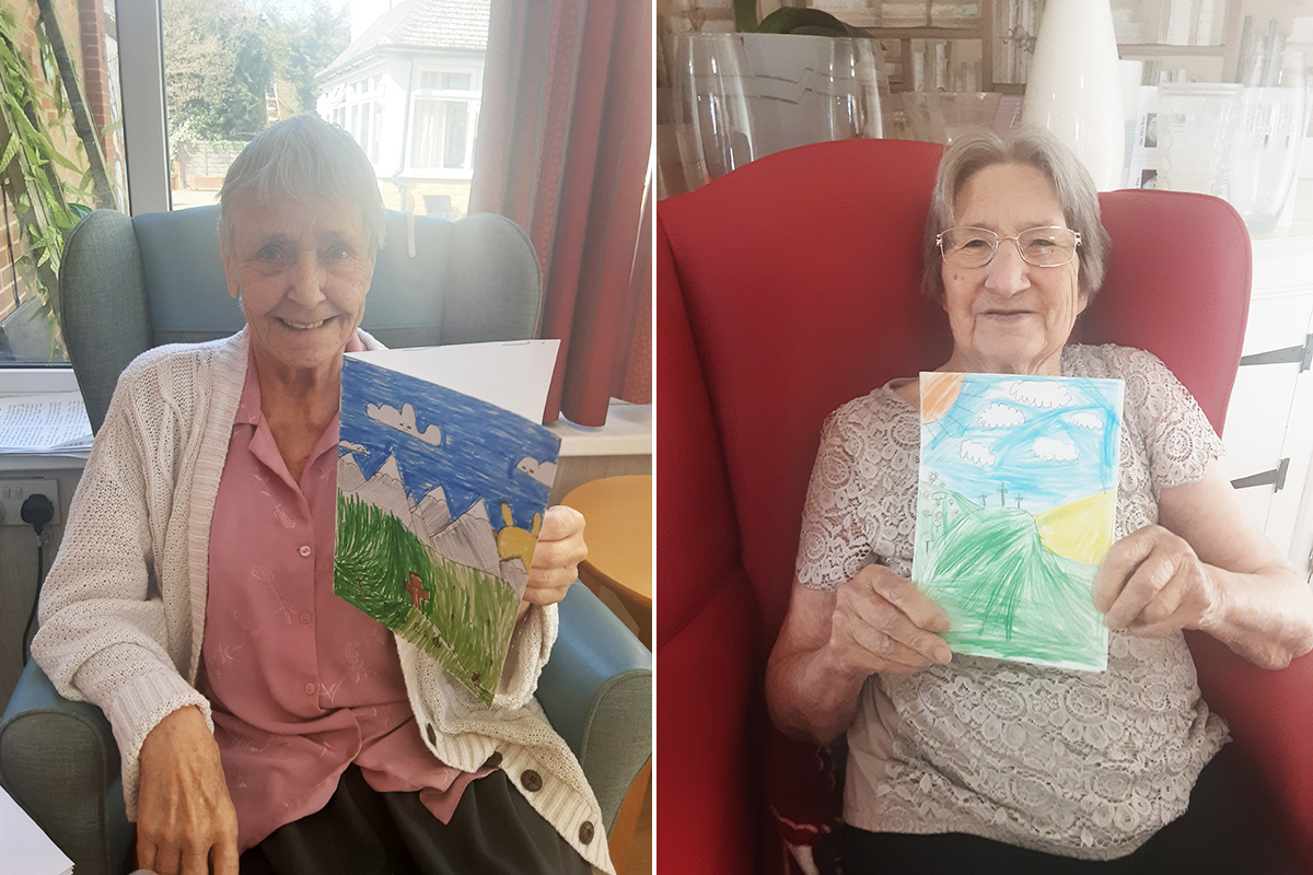 Woodstock Residential Care Home receive special Easter cards