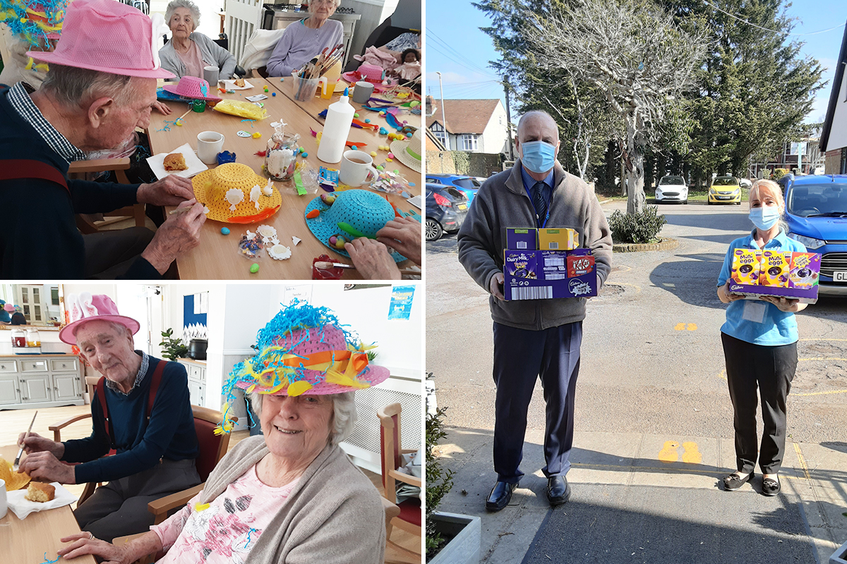 Easter eggs and bonnets at Woodstock Residential Care Home