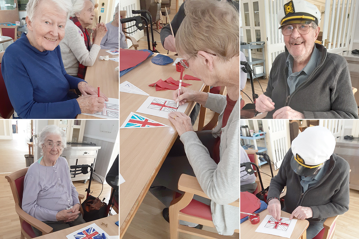 Flags of celebration at Woodstock Residential Care Home