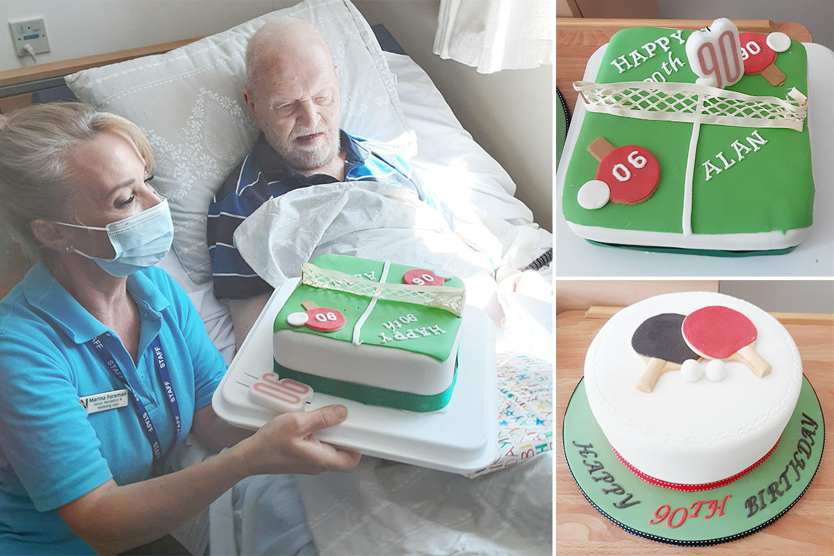 Happy 90th birthday to Alan at Woodstock Residential Care Home