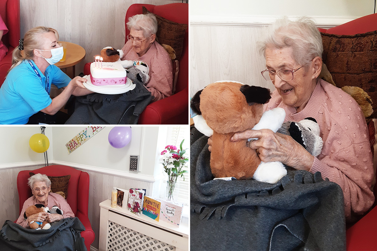 Birthday fun for Daphne at Woodstock Residential Care Home