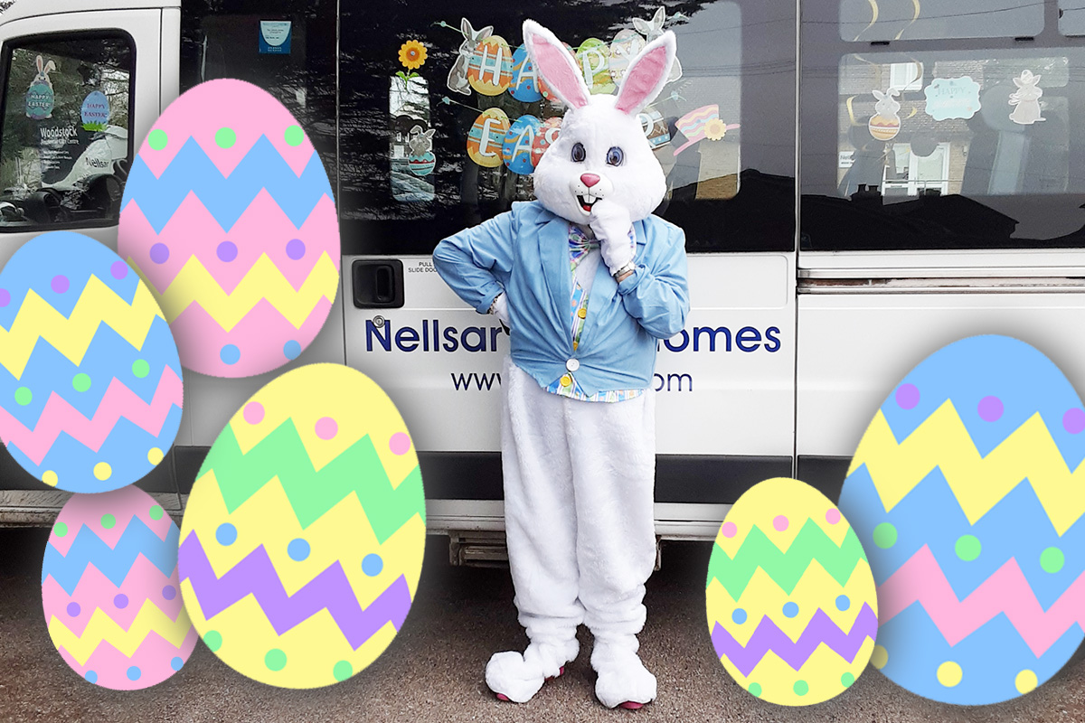 The Easter Bunny visits Woodstock Residential Care Home