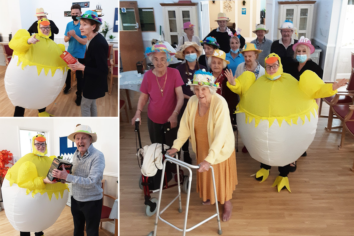 Easter bonnets and treats at Woodstock Residential Care Home