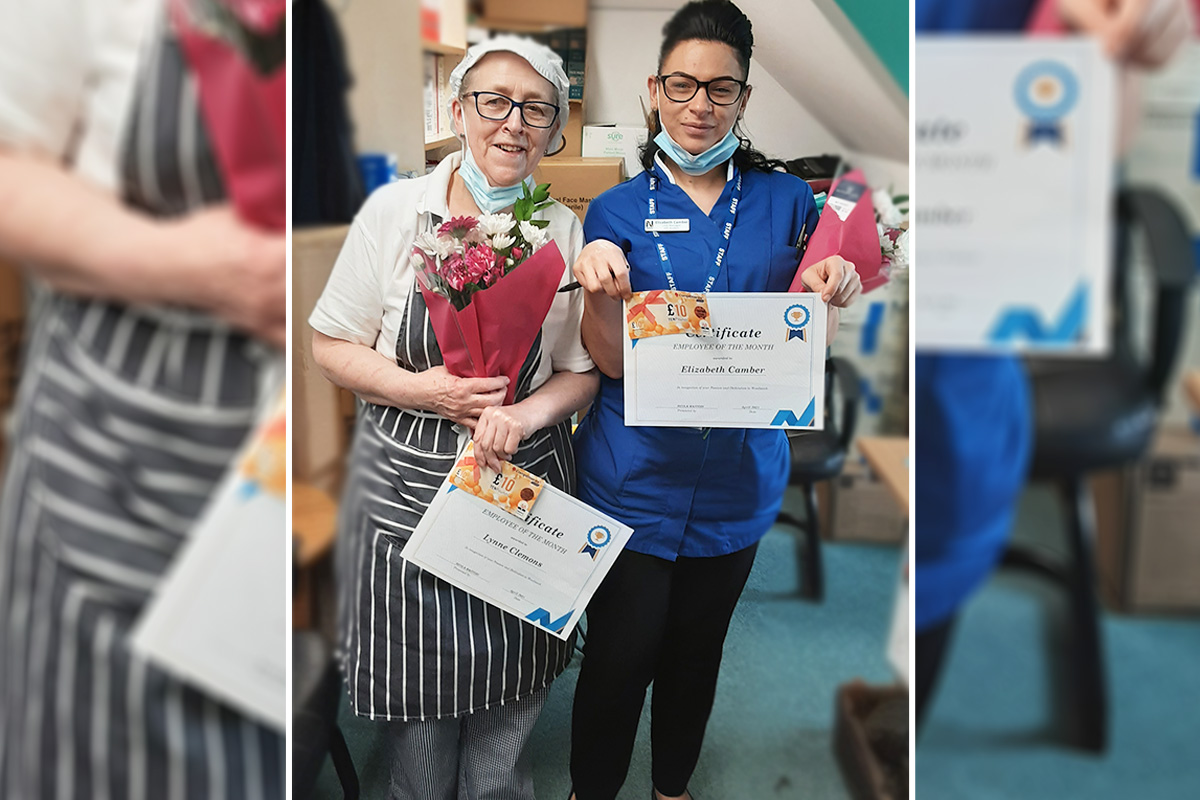 Celebrating Employees of the Month at Woodstock Residential Care Home
