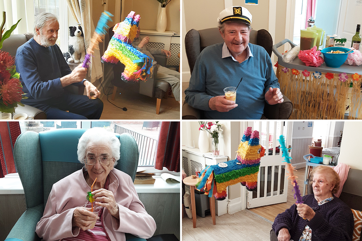 Piñata and cocktail fun at Woodstock Residential Care Home