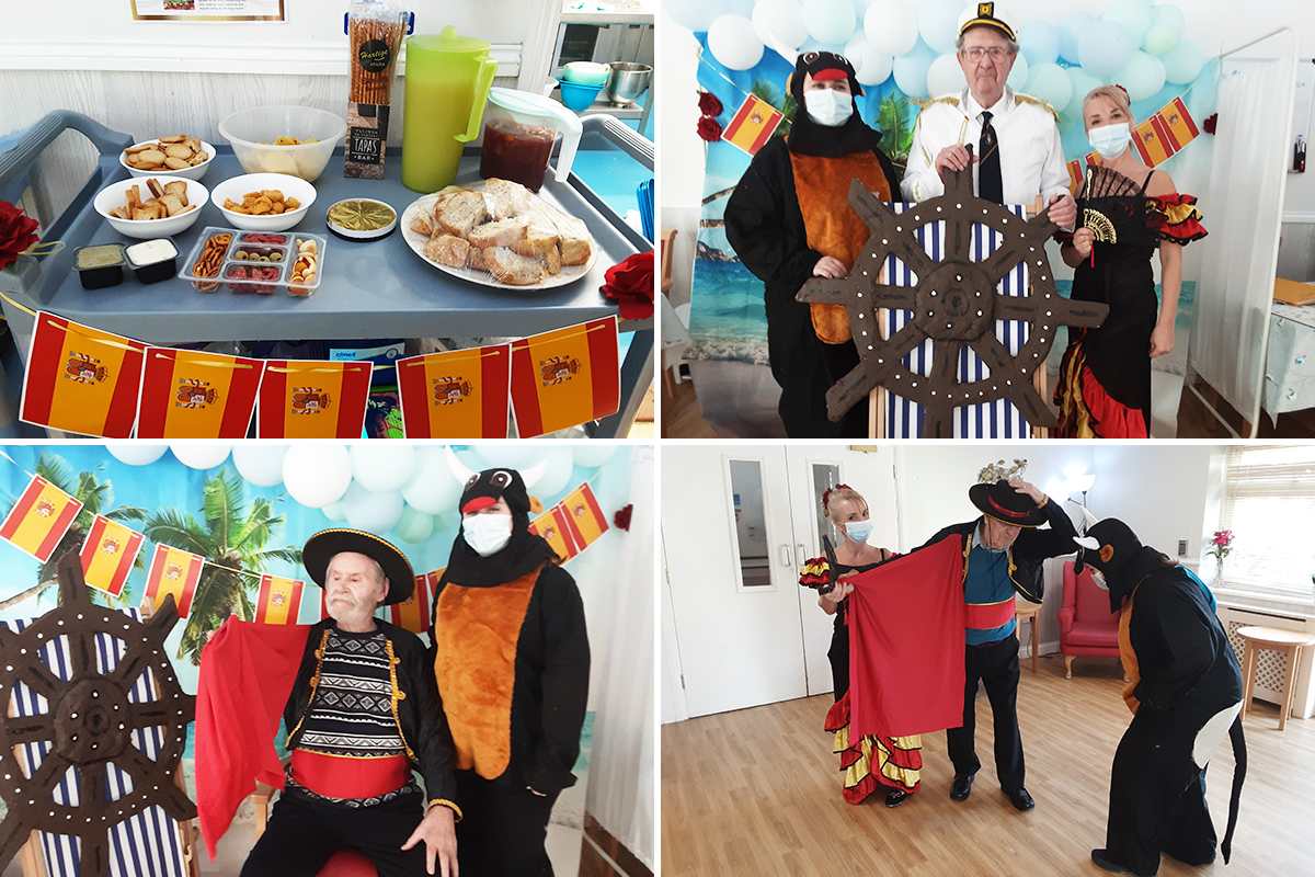 Residents enjoy cocktails and tapas at Woodstock Residential Care Home