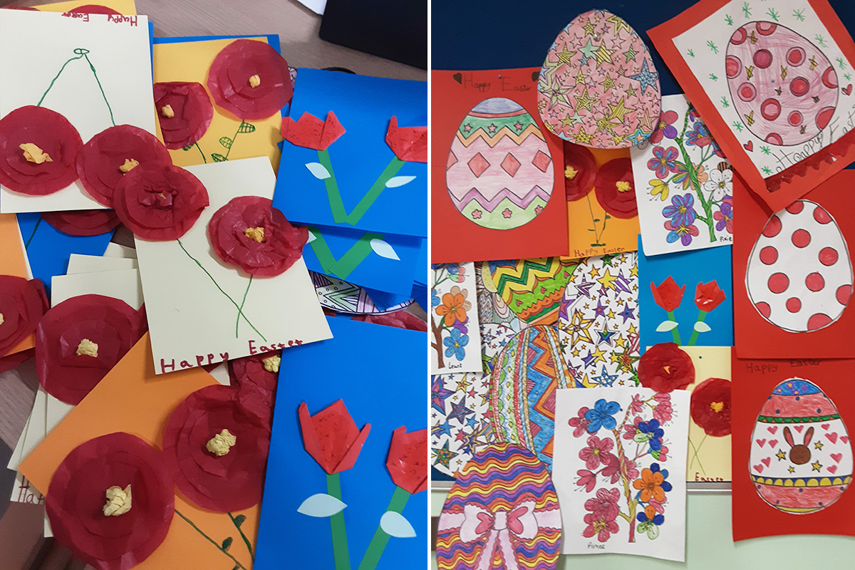 Easter thank yous from Woodstock Residential Care Home