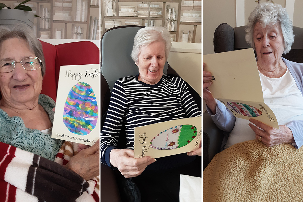 Woodstock Residential Care Home residents receive Easter cards from local school