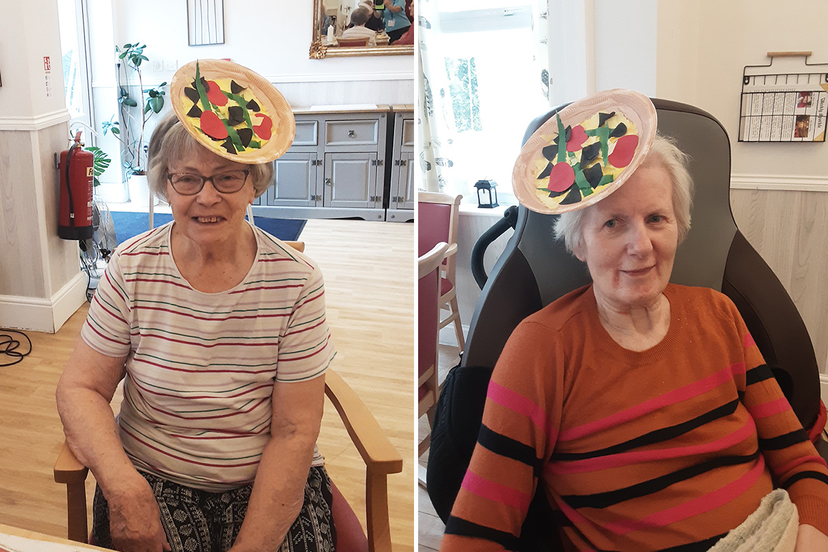 Pizza perfect at Woodstock Residential Care Home