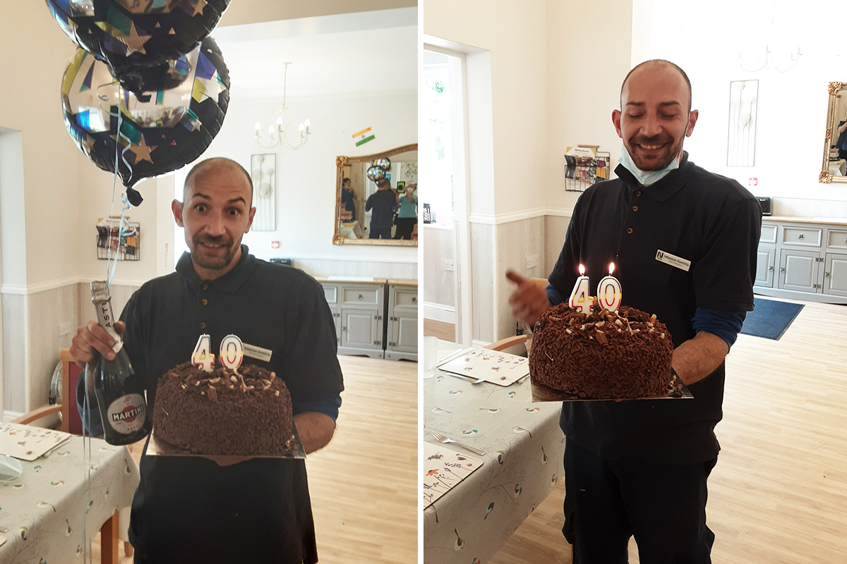 Happy 40th birthday to Sebastian at Woodstock Residential Care Home