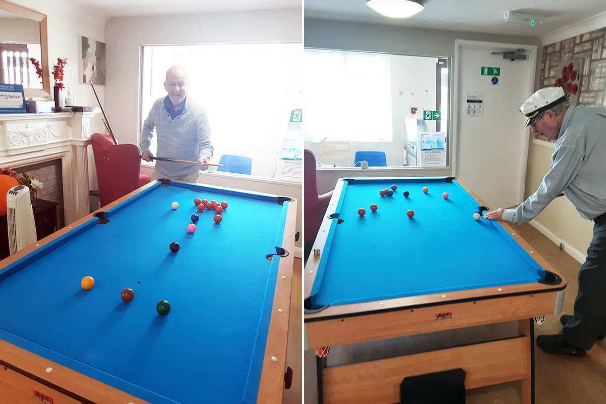 Enjoying pastimes at Woodstock Residential Care Home