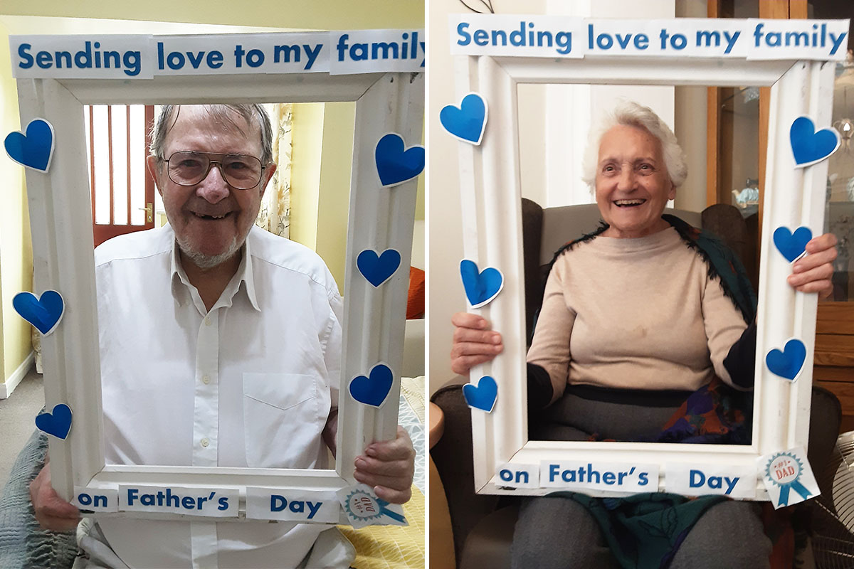 Photoshoot for Fathers Day at Woodstock Residential Care Home