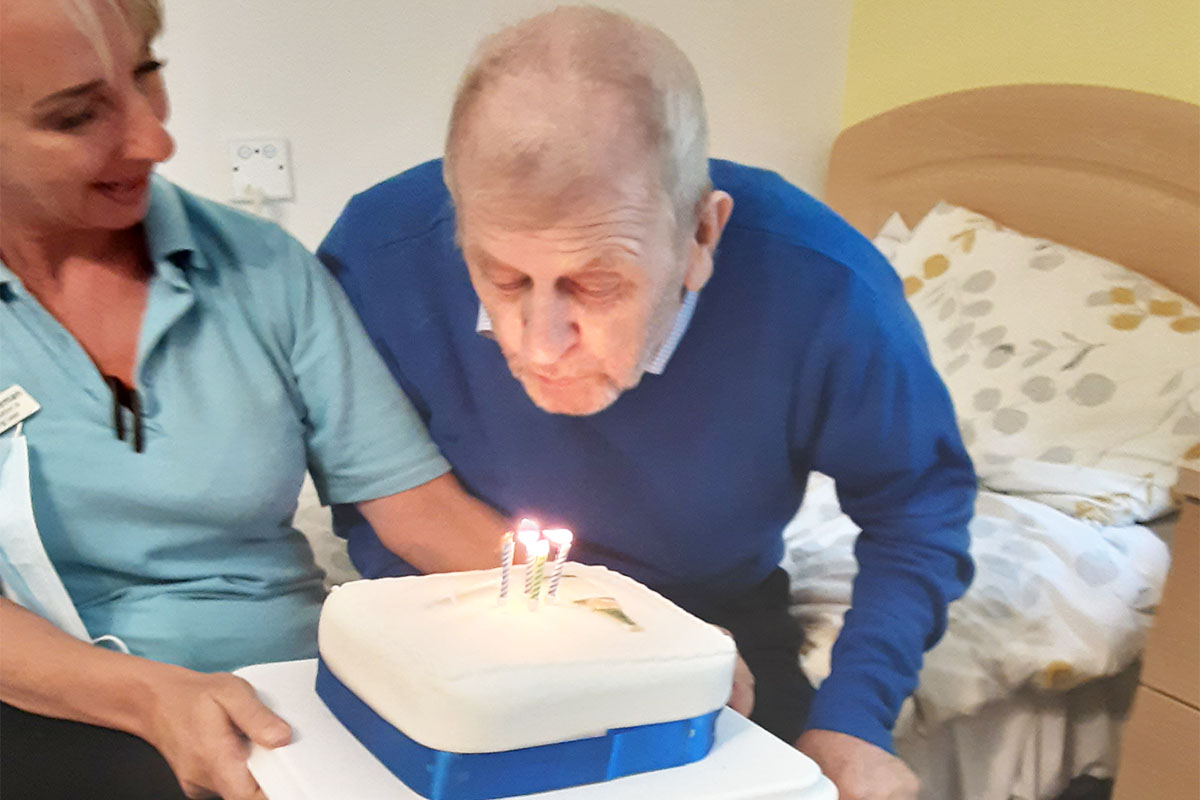 Many happy returns to Bob at Woodstock Residential Care Home