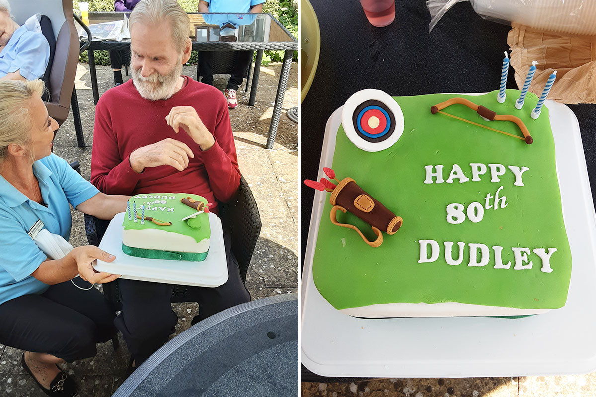 Dudley turns 80 at Woodstock Residential Care Home