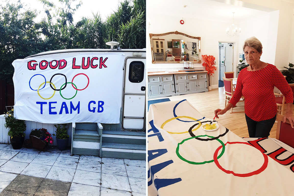 Olympic art and garden bingo at Woodstock Residential Care Home