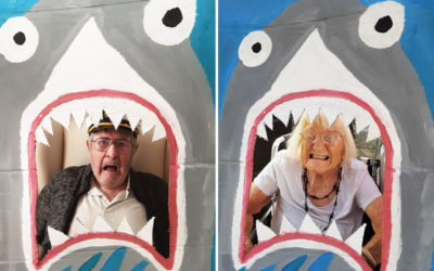 Shark themed photos at Woodstock Residential Care Home