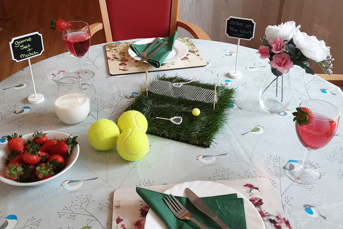 Tennis and football fun at Woodstock Residential Care Home