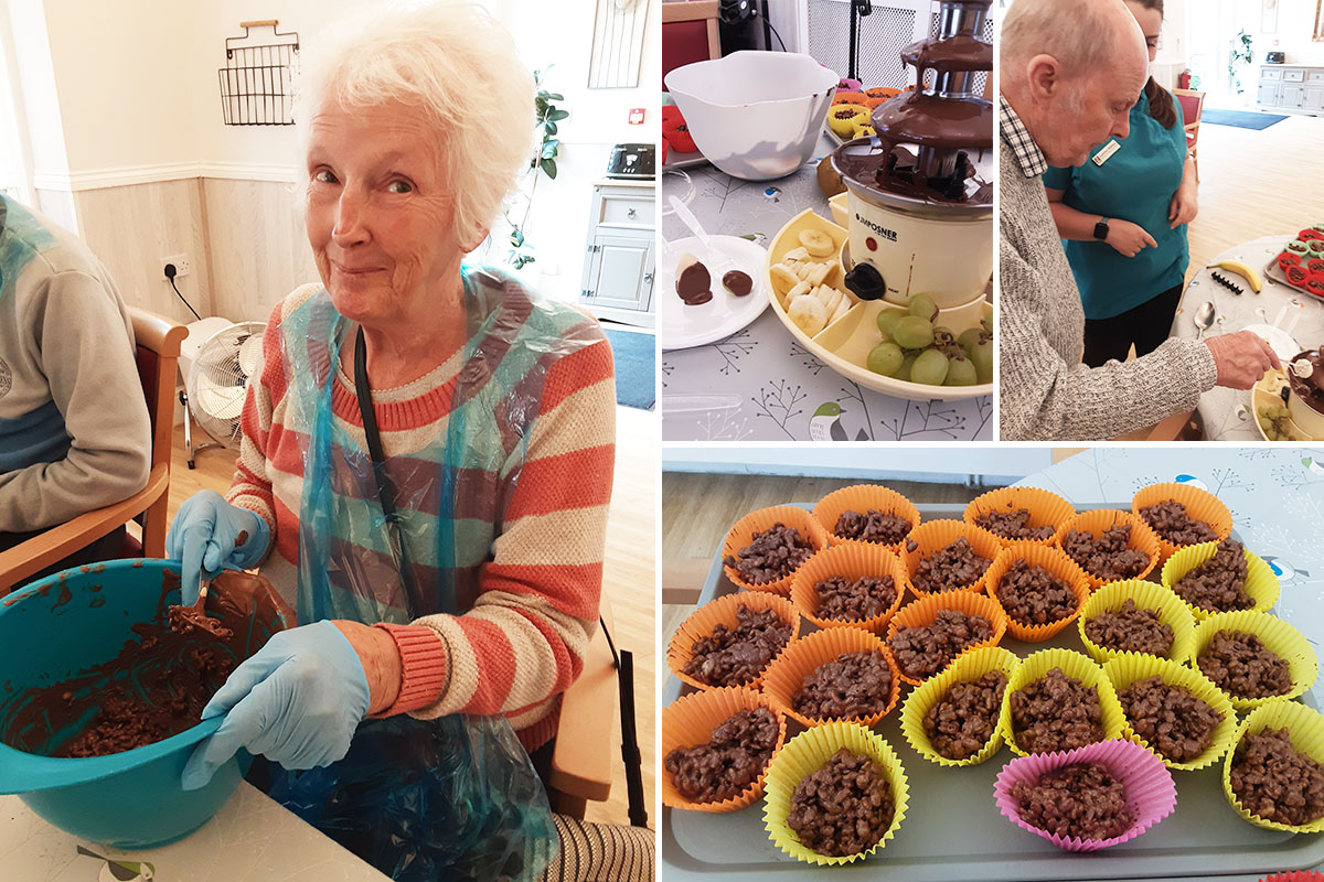 Woodstock Residential Care Home residents in chocolate heaven