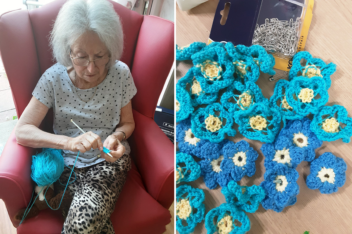 Woodstock Residential Care Home residents and staff support Alzheimers Society