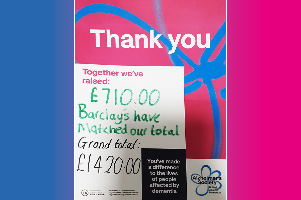 Fantastic fundraising total at Woodstock Residential Care Home