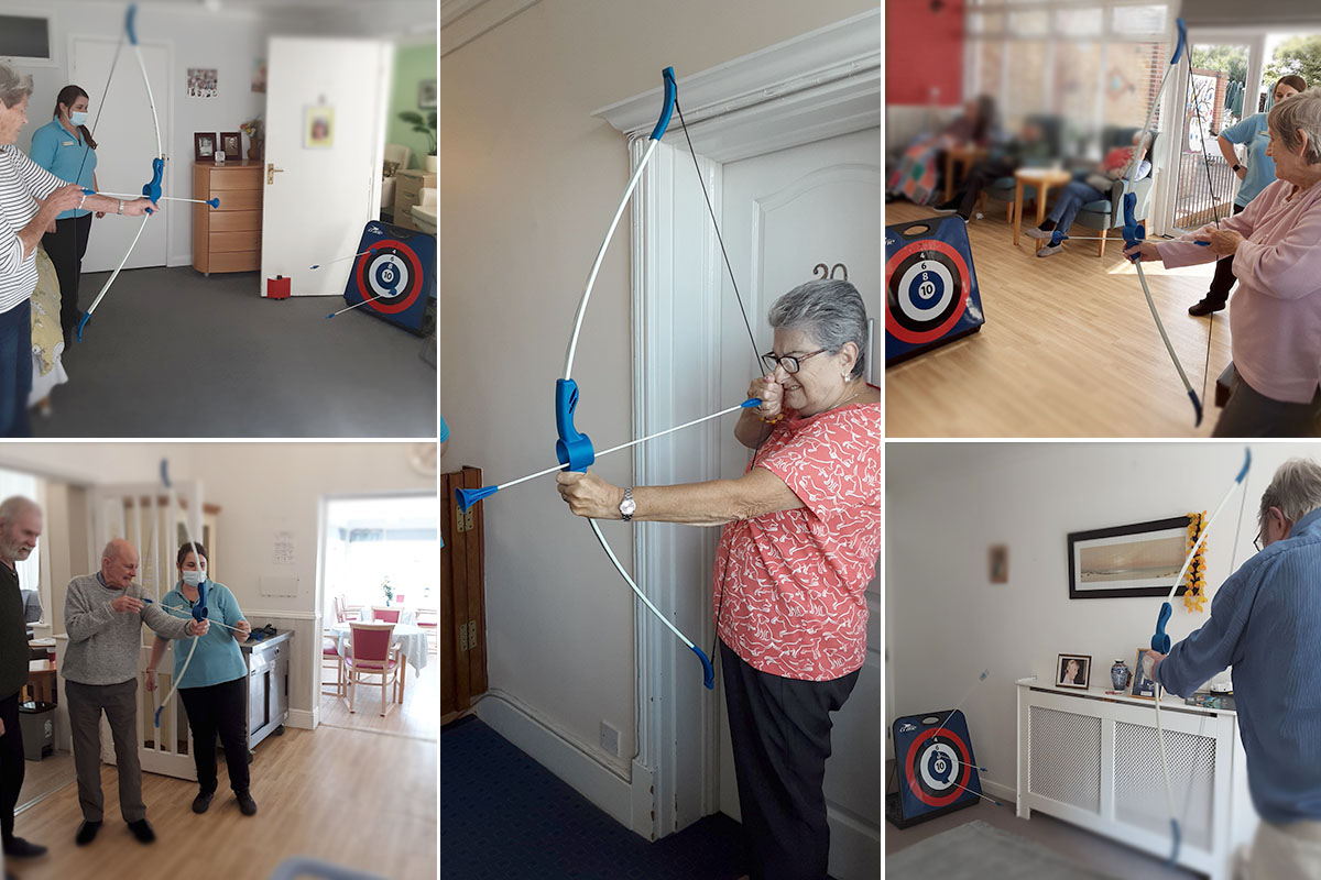 Woodstock Residential Care Home residents enjoy archery competition