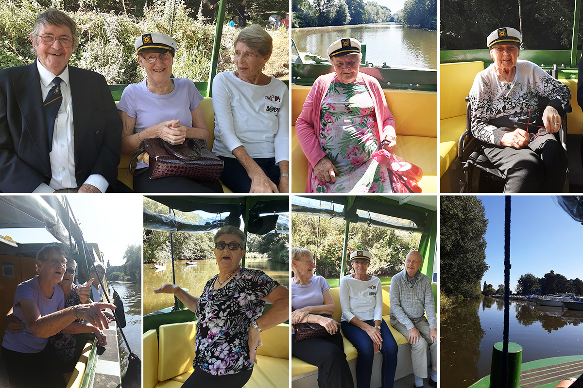Woodstock Residential Care Home residents enjoy a day of boating