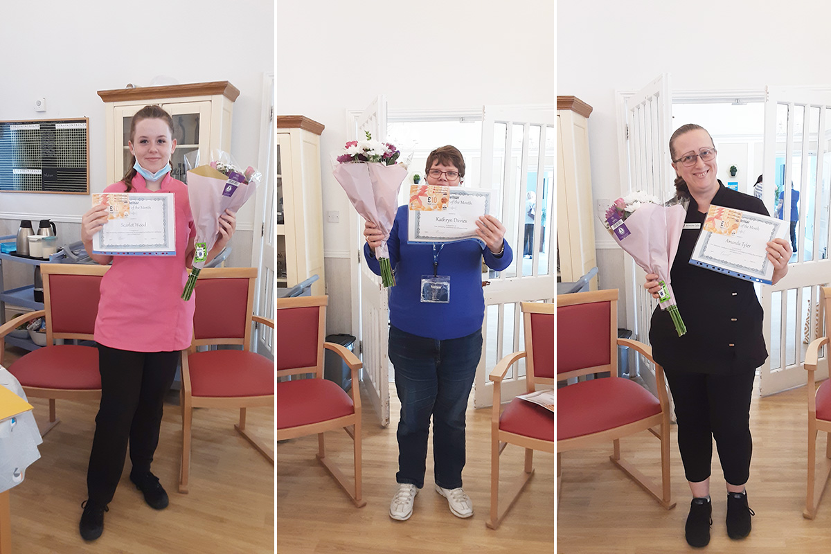Employees of the month at Woodstock Residential Care Home