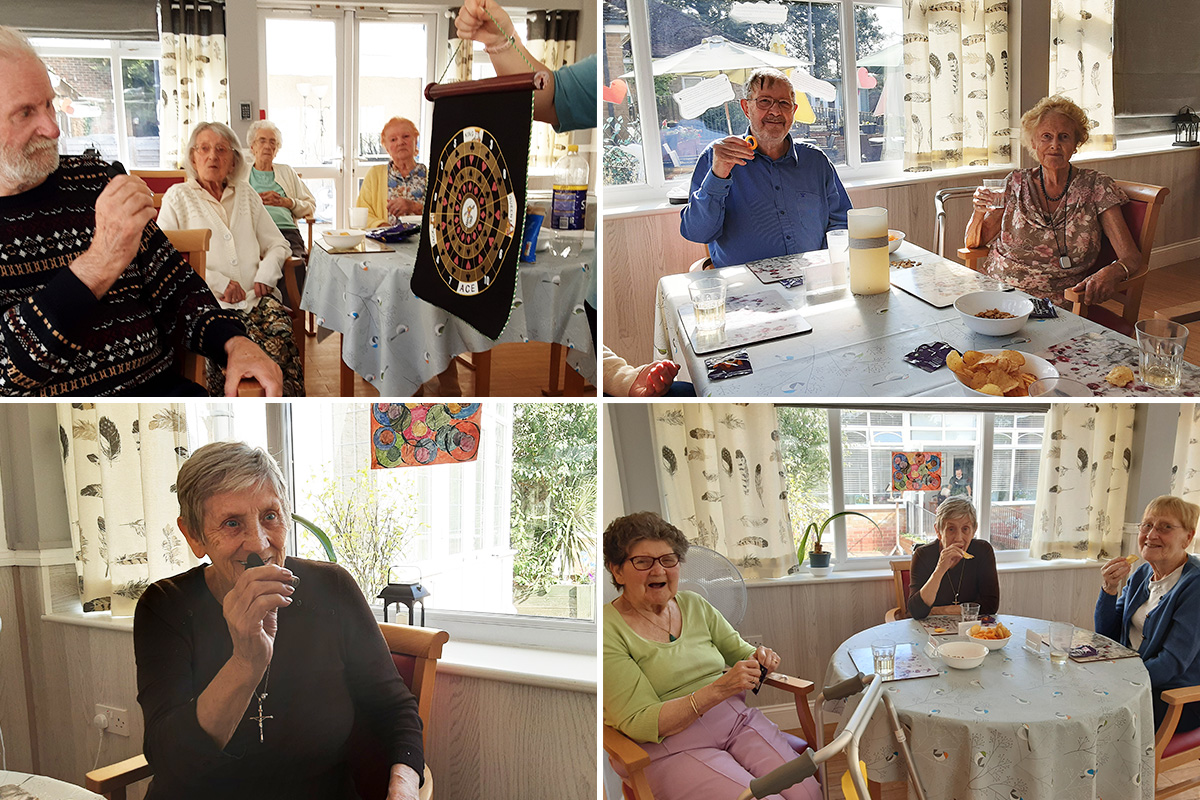 Residents at Woodstock Residential Care Home share a pub afternoon