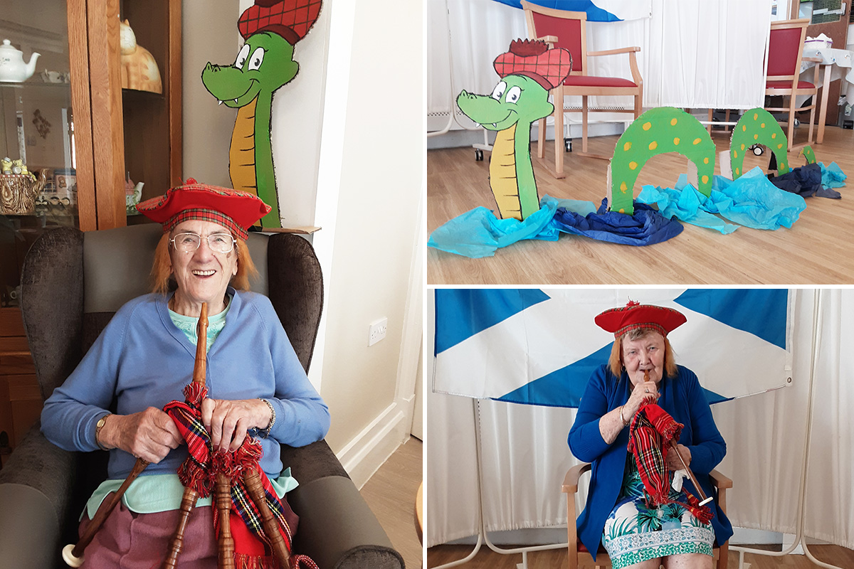 Carry on Camping trip to Scotland at Woodstock Residential Care Home