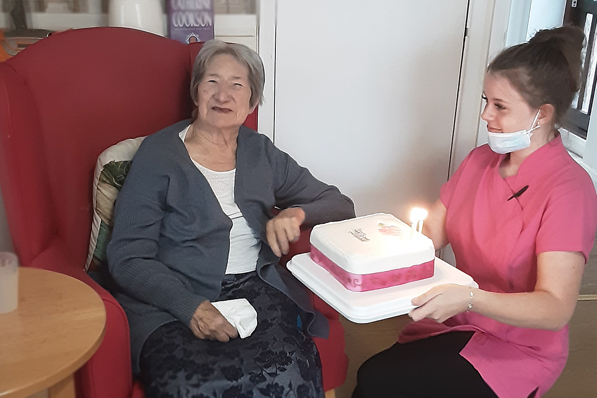 Birthday wishes for Barbara at Woodstock Residential Care Home