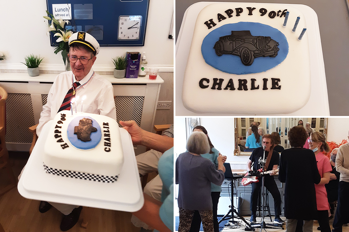 Charles turns 90 at Woodstock Residential Care Home