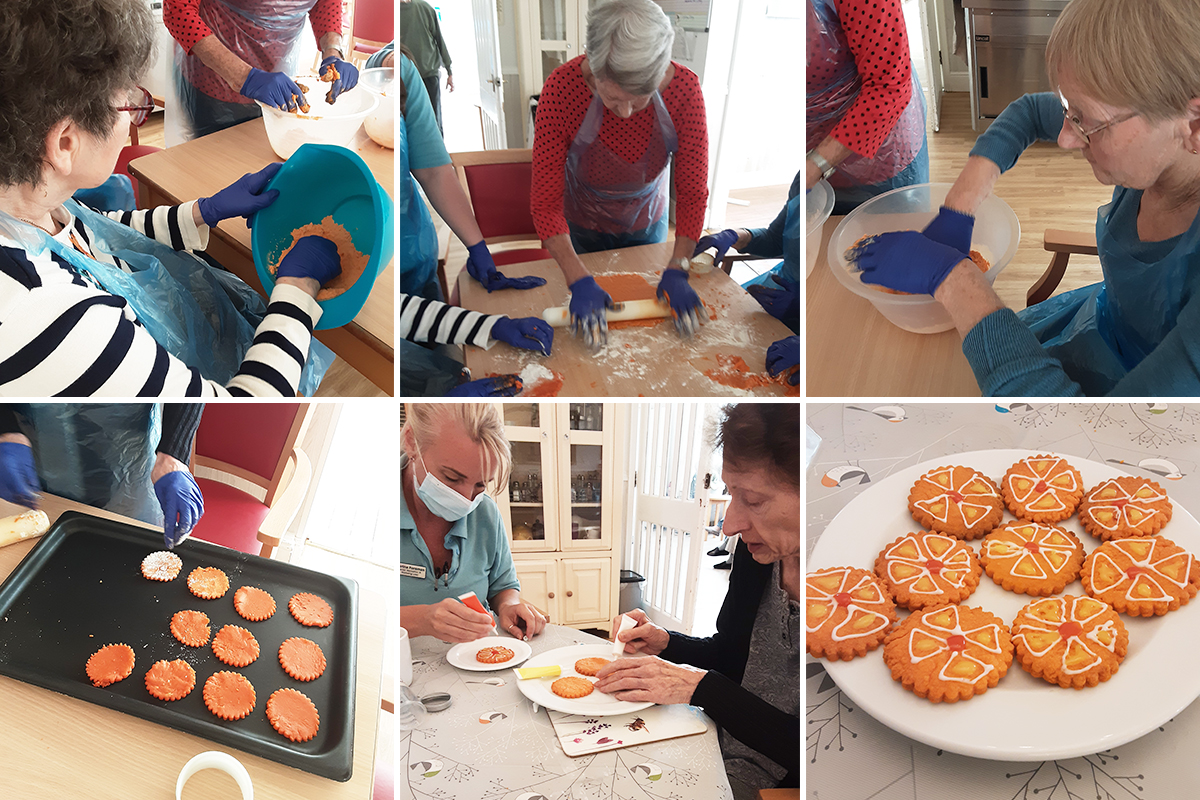 Woodstock Residential Care Home residents make daffodil cookies
